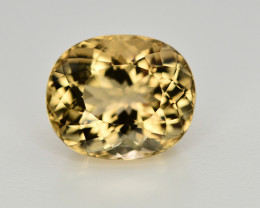 4.40 CT NATURAL HELIODOR YELLOW BERYL LOOSE GEMSTONE