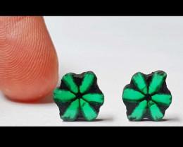 9.91 Colombian Emerald Trapiche Lot