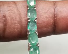 (LBA) Stunning 64.0tcw. Natural Brazilian Emerald Bracelet Untreated Retail