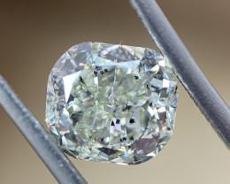 GIA 1.59 Carat Cushion Natural Fancy Light Green Loose Diamond