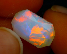 Welo Opal 2.44Ct Natural Faceted Ethiopian Play of Color Opal D1030/A2