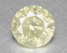 0.41 Cts Untreated Fancy Yellow Color Natural Loose Diamond