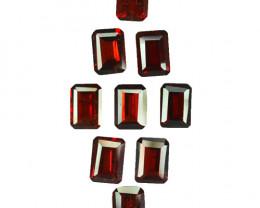 10.22 Cts Natural Pinkish Red Rhodolite Garnet 7x5mm Octagon 9Pcs Mozambiqu