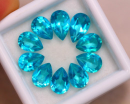 8.46Ct Natural Paraiba Color Topaz Pear Cut Lot B1708