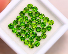 3.66Ct Natural Chrome Diopside Round Cut Lot A952