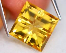 Citrine 6.47Ct VVS Designer Cut Natural Golden Yellow Citrine B0709