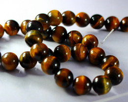 397.80 ct Unheated ~ Natural Golden Tiger Beads
