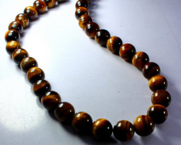 403  ct Unheated ~ Natural Golden Tiger Beads Necklaces