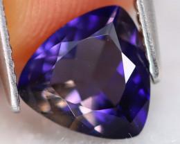 Iolite 1.23Ct VVS Trillion Cut Natural Purplish Blue Iolite B0722