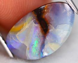 Boulder Opal 5.62Ct Natural Australian Multi Color Flash Boulder Opal B0729