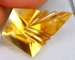 Citrine 6.66Ct VVS Designer Cut Natural Golden Yellow Citrine B0736