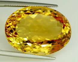 40.20 ct. 100% Natural Top Yellow Golden Citrine Unheated -IGE Certificat