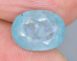 3.37 Crt Natural  Grandidierite Faceted Gemstone.( AB 60)