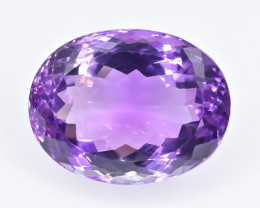 20.66 Crt Natural Amethyst Faceted Gemstone.( AB 60)