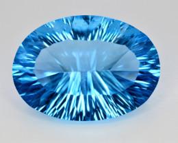 Amazing Laser Cut 41.85 Ct Natural Swiss Blue Color Topaz