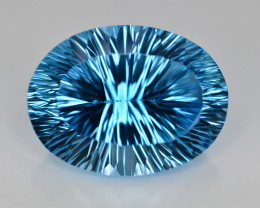 Amazing Laser Cut 46.85 Ct Natural Swiss Blue Color Topaz