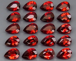9.35 ct. Natural Hot Red Rhodolite Garnet Africa - 20 Pcs