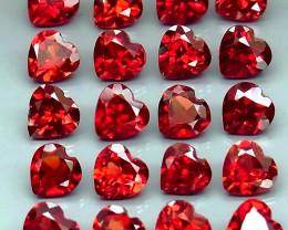 11.48  ct. Natural Hot Red Rhodolite Garnet Africa - 20 Pcs