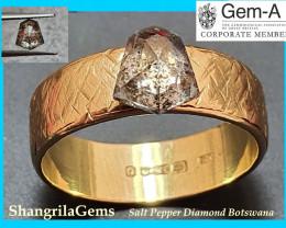 1.36ct 7.1mm Shield shape Salt and Pepper Diamond