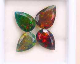 3.58ct Natural Ethiopian Welo Solid Smoked Faceted Opal Lot GW7094