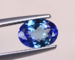 1.30Ct Natural Violet Blue Tanzanite Oval Cut Lot LZ6065