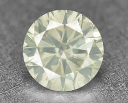 0.20 Cts Untreated Fancy Yellowish Grey Color Natural Loose Diamond