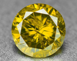 0.32 Cts Rare Fancy Intense Yellow Color Natural Loose Diamond