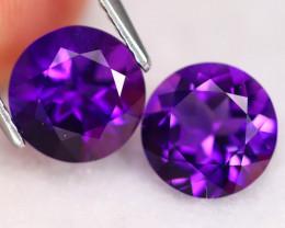 Uruguay Amethyst 3.36Ct VVS Round Cut Natural Violet Amethyst A0827