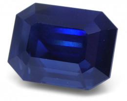 Unheated 6.38 Carat Loose Blue Sapphire IGI Certified
