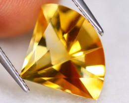 Citrine 4.69Ct VVS Designer Cut Natural Golden Yellow Citrine A0835