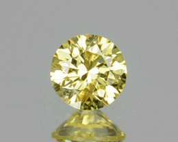 0.08 Cts Natural Untreated Diamond Fancy Yellow 2.6mm Round Cut Africa