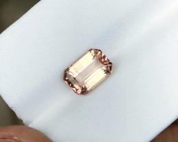 1.95 Ct Natural Pinkish Red Transparent Tourmaline Ring Size Gemstone