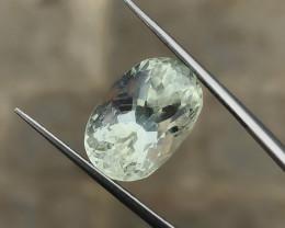 8.70 Ct Natural Yellow Transparent Kunzite (Triphane) Gemstone