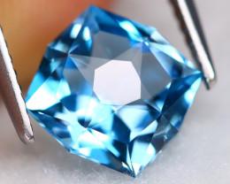 London Topaz 2.76Ct VVS Precision Cut Natural London Blue Topaz BN0111