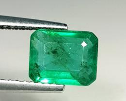 1.59 ct  AAA Grade Gem  Excellent Octagon Cut Natural Emerald