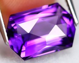 Uruguay Amethyst 4.98Ct VVS Master Cut Natural Violet Amethyst AN0116