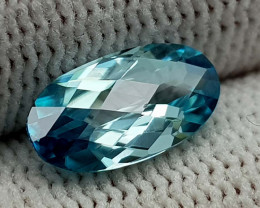 2.55CT NATURAL BLUE ZIRCON BEST QUALITY GEMSTONE IIGC23