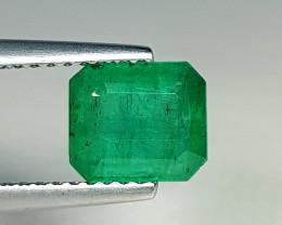 1.50 ct Amazing Gem Excellent Octagaon Cut Natural Emerald