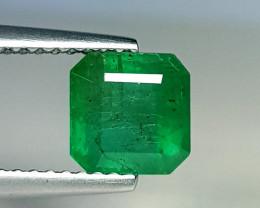 1.45 ct  Top Green Gem Superb Square Cut Natural Emerald