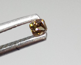 0.07ct Fancy Deep Pinkish Brown  Diamond , 100% Natural Untreated