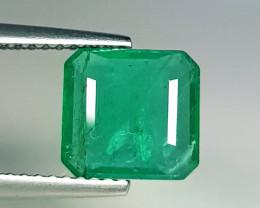 2.05 ct  Amazing Gem Excellent Square Cut Natural Emerald