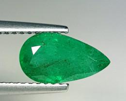 1.52 ct  AAA Grade Gem Amazing Pear Cut Natural Emerald