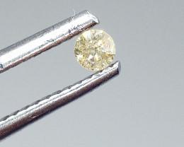 0.095ct Light Green  Diamond , 100% Natural Untreated