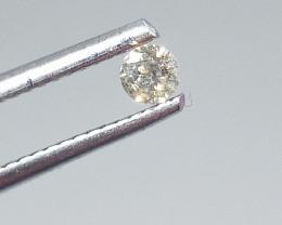 0.12ct  Faint Brown Diamond , 100% Natural Untreated