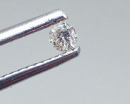 0.095ct  White Diamond , 100% Natural Untreated