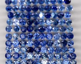 2.97  Ct. 1.7 mm Natural Cornflower Blue Sapphire Sri Lanka Diamond Cut