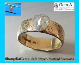 1.36ct 7.5mm Salt and Pepper drop pear Diamond