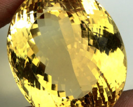 90.70 ct. 100% Natural Unheated Top Yellow Golden Citrine Brazil