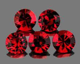3.50 mm Round 5 pcs Red Spinel [VVS]