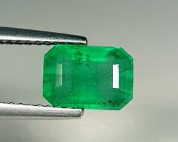 1.82 ct  AAA Grade Gem  Excellent Octagon Cut Natural Emerald